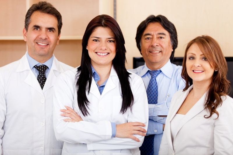People in white lab coats